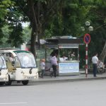 ハノイ旧市街周辺の観光にお勧めの快適な電気カー